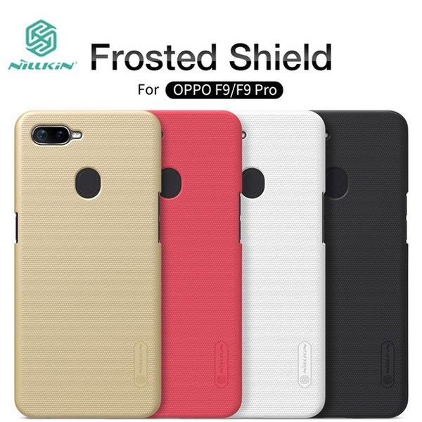 cell phone case For OPPO F9 case cover NILLKIN Frosted PC Plastic back cover For OPPO F9 Pro with Screen Protector