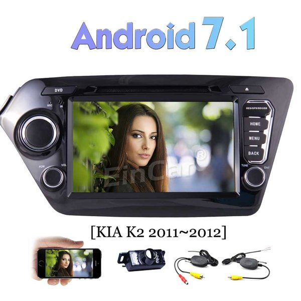 Car DVD Player Android 7.1 Car Stereo for KIA K2(2011-2012) GPS Navi Head Unit Bluetooth 4G WIFI AV Out USB SD