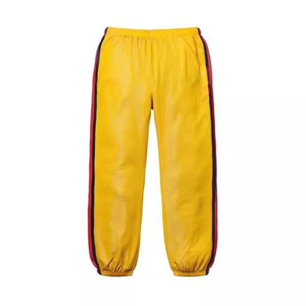18SS Fashion Trousers Week6 Bonded Mesh Comfortable Casual High Quality Mens And Women Couple Three Colors Pants HFBYKZ030