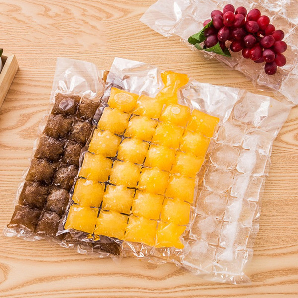 best selling Creative Disposable Ice Cube Bags 10Pcs Frozen Juice Clear Sealed Pack Ices Making Mold Summer DIY Drinking Tray Tool 1 3lb YY
