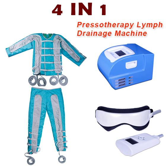 Professional pressotherapy lymph drainage eyes massage weight loss Far Infrared pressotherapy machine EMS pads relax muscle