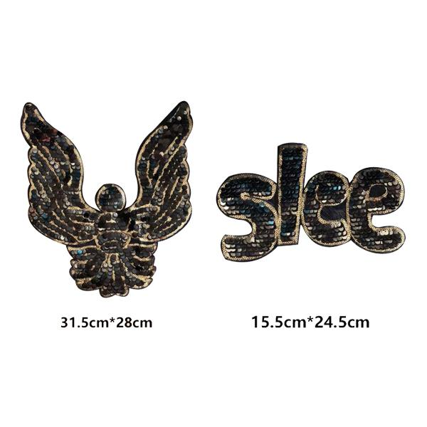 Mektup ve Eagles Yamalar Aplike Giyim Sequins için Başarmak On Köpüklü Cos Dekorasyon için Ceket Gömlek Elbise DIY Şeritler Aksesuarları