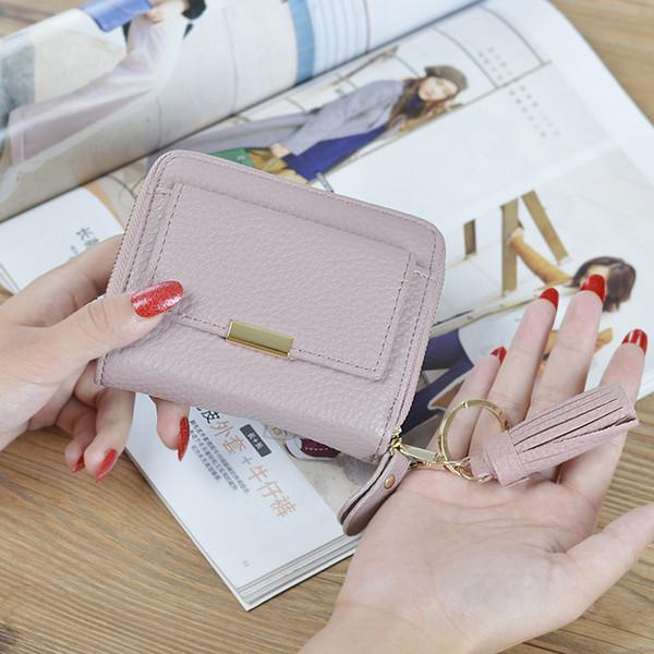 Le Japon et la Corée du Sud, le nouveau mini-ms mode givré dans un petit porte-monnaie étudiant, un joli portefeuille zéro pour femmes