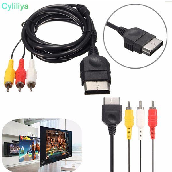 Video Kablosu RCA Kompozit Video AV Kablosu XBOX Için HDTV 1.8 M Adaptörü Dönüştürücü Bağlayıcı Bağlantısı