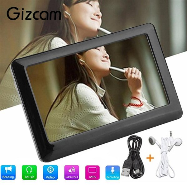 Gizcam Portable 8GB 4.3 Inches Touch HD LCD screen MP4 MP3 MP5 Media Player Video FM Radio Fast Speed Gift Support 32G TF card