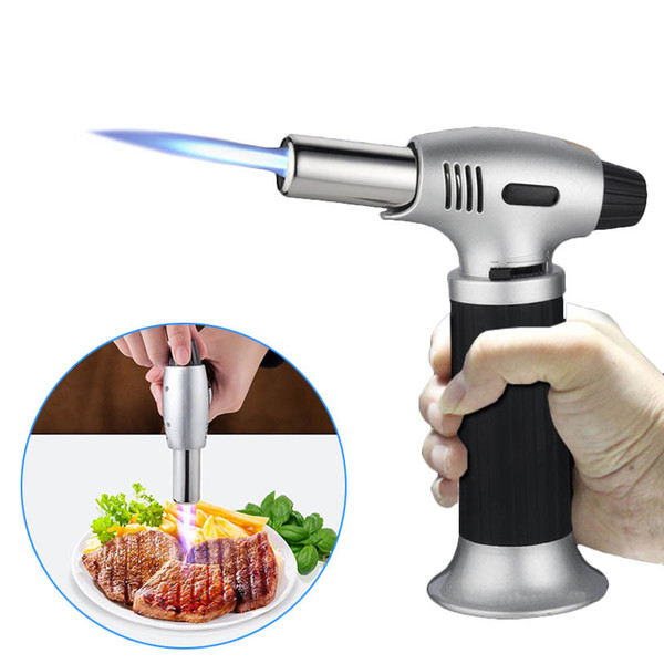 Butane Scorch Torch Flame Lighters Chef Cooking Refillable,Professional Blow Torch for Creme. Brulee. Adjustable Flame Lighter Torch Gas Not