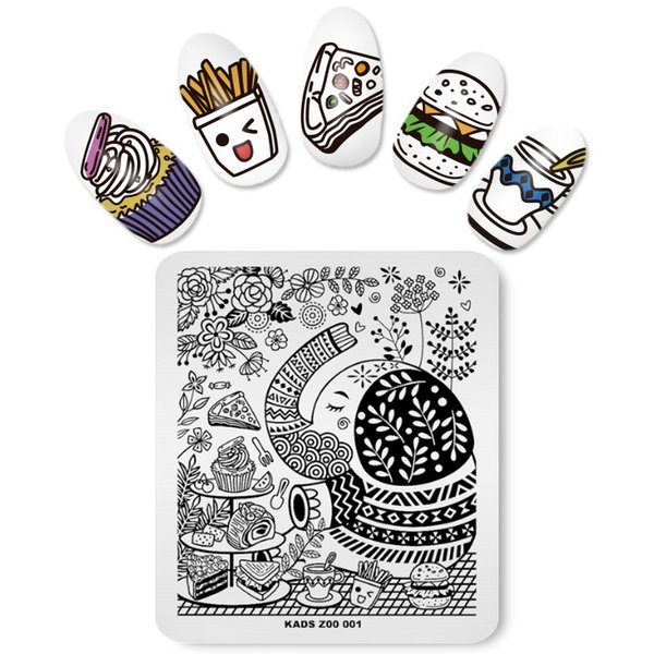 MISSGUOGUO 1pc Nail Stamping Templates Printing Fingernails Stamping Manicure Tools Cartoon Lovely Design Hot Selling Version