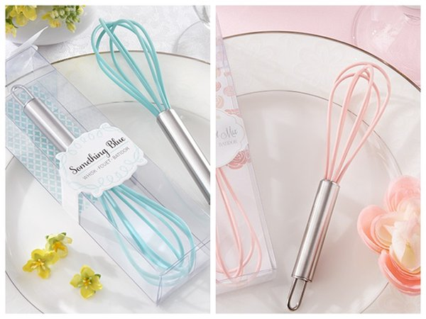 "(20 Pieces/lot) Bridal Shower Decoration Favors of The Perfect Mix"" Pink and Blue Kitchen Whisk Wedding gifts for Party favors"