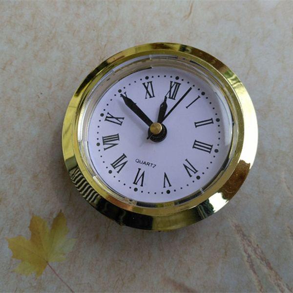 Wholesale 5PCS Gold Diameter 50mm Insert Clock Built - in Clock Roman and Arbic Number for Craft Clock