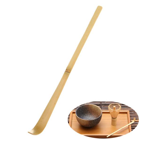 HELLOYOUNG 17 cm Hecho a mano de bambú Chashaku Matcha Tea Scoop Retro Ceremonia del té verde japonés Matcha Scoop Tea Sticks Tool