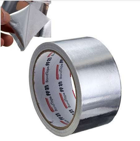 best selling Useful Aluminium Foil Adhesive Sealing Tape Thermal Resist Duct Repairs High Temperature Resistant Foil Adhesive Tape 5cm*17m 2016