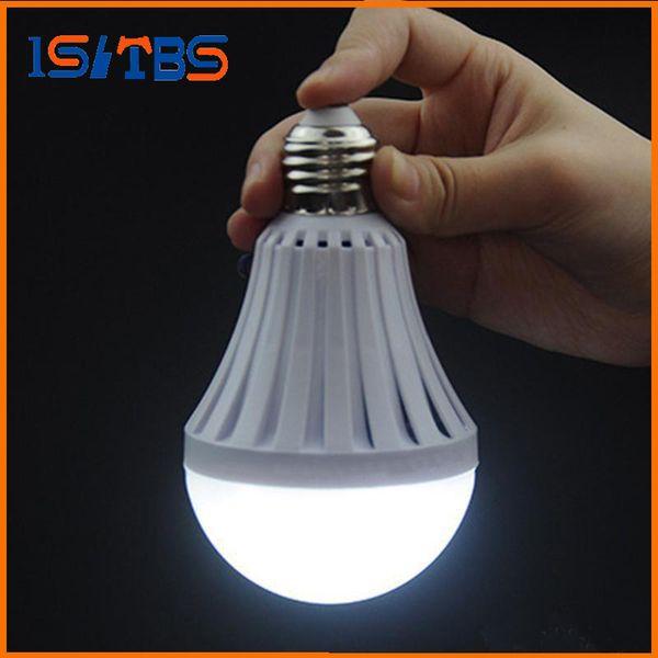 E27 LED lampe de secours 5W 7W 9W 12W manuel / contrôle automatique 180 degrés lumière rue vendeurs utilisent travaillent 3-5 heures