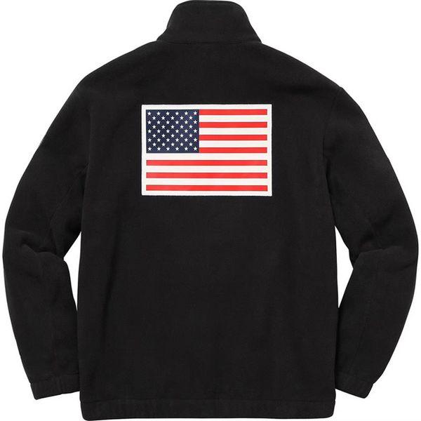 17ss En Kaliteli Polar Ceket Trans Antarktika Bayrağı Ceket Erkekler Kadınlar Coats Moda Giyim En Kaliteli HFZRY001