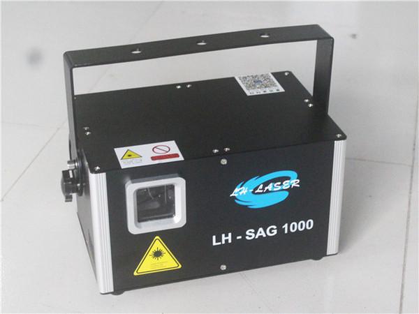 1000mW individual animación verde y el proyector de haz láser con la tarjeta SD e Ilda para la Navidad al aire libre