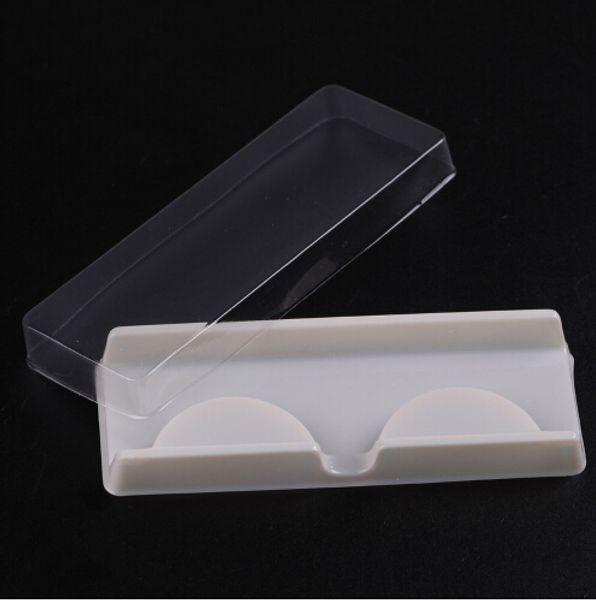 Verpackungskasten für Wimperrohling Wimperplastikverpackung transparenter Deckel weißes Behältergroßverkauf 100 Sätze / Los