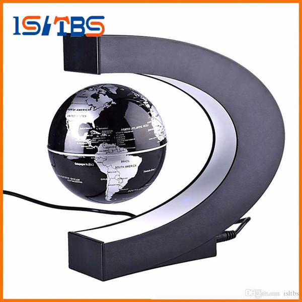 Floating C Shape Magnetic Levitation Floating Globe World Map Fashion Home Decoration LED Christmas Novelty LED Light