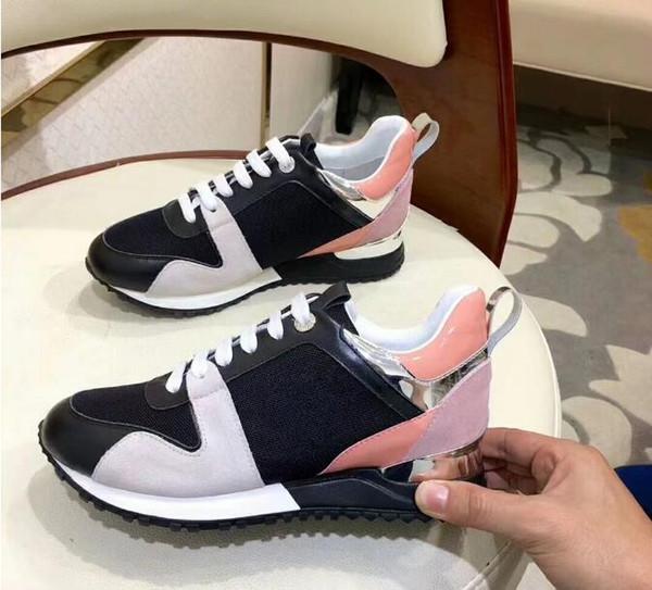 Compre Zapatos De Diseño Mujeres De Lujo Zapatos Para Correr es Zapatos Ocasionales De Cuero Genuino Para Mujer Zapatillas De Deporte Para Mujer