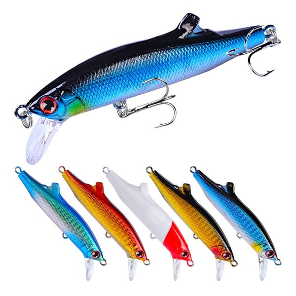 5-color 9cm 26g VIB Plastic Hard Baits & Lures Fishing Hooks 6# Hook Artificial Bait Pesca Fishing Tackle Accessories