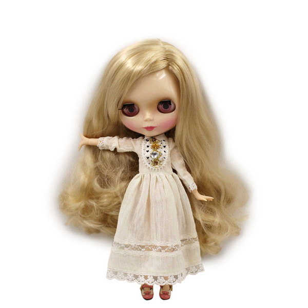 blythe factory ICY Nude Blyth doll No.280BL3715 Blond hair without bangs JOINT body White skin Factory Blyth