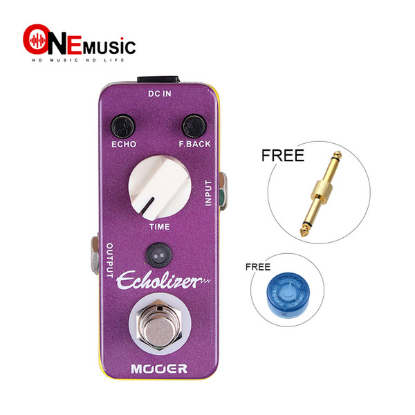 Mooer Echolizer Delay Guitar Effect Pedal Very Similar to Analog Delay Warm/Vintage Delay Sound Full Metal Shell True Bypass