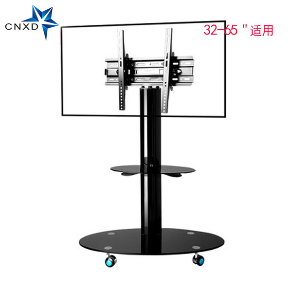 """Mobile TV Stand Bracket Floor TV Carts with Adjustable Shelf and Flat Screen Mount Fits 32"""" to 65""""Monitors"""