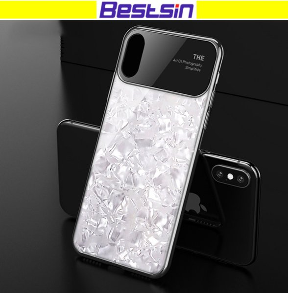 Bestsin Luxury Cell Phone Case Electroplated hard shell Case Cover for iphone 6s p 7 8plus X
