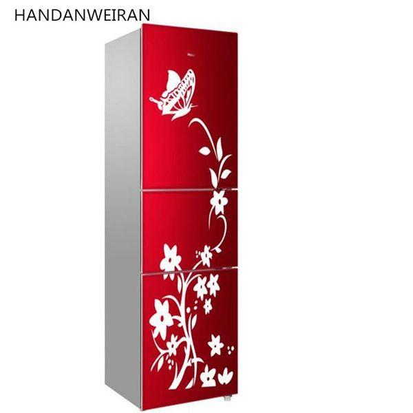 1piece with transter film special butterfly flower vine fridge sticker wall sticker glass sticker home decor