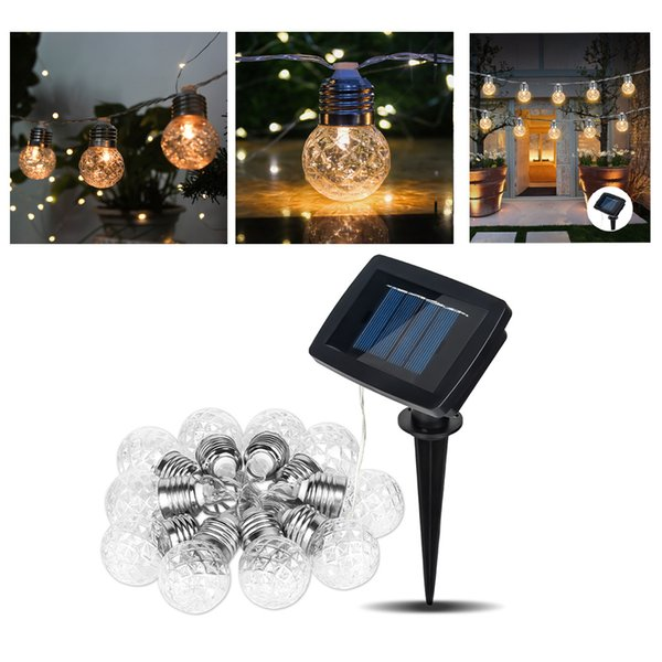 3.8M 10 LEDs Pineapple Ball String Light Outdoor LED Solar Waterproof Garden Lights for Festival Party Wedding Holiday