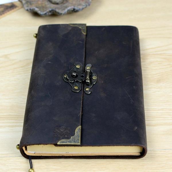 Revista de cuero vintage antiguo Diario de viaje de Buffalo hecho a mano - Cuaderno de escritura de cuero suave clásico