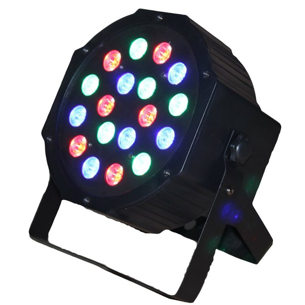 18pcs*1W LED Mini Flat Par can Party decoration DJ Party show Stage Lamp wedding dyeing effect stage lighting