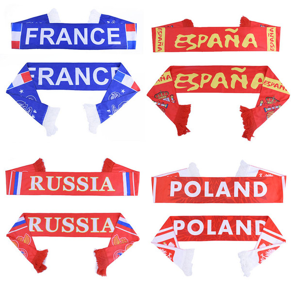 Russie Coupe du Monde 2018 Fans de football Foulard Fan de football Foulard de l'équipe nationale Foulard 32 pays Mexique Colombie F Drapeau Bannière