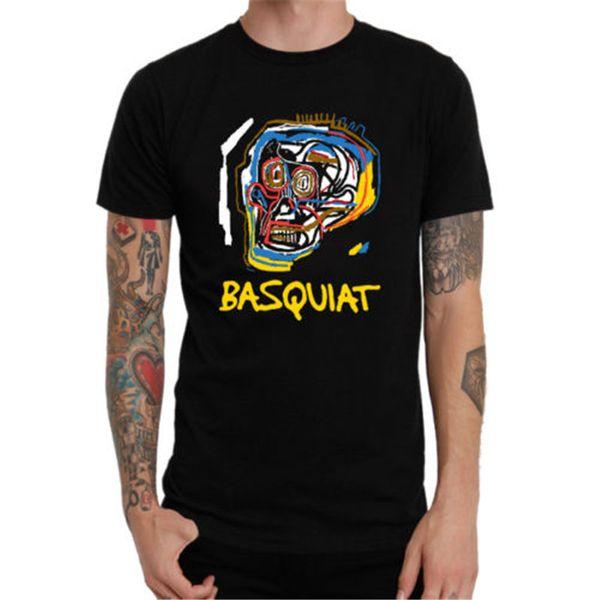 Пользовательские футболка дизайн с коротким рукавом графический О-образным вырезом мужские Жан-Мишель Баския тройники футболка мужчины мальчик творческий пользовательские с коротким рукавом XXXL комикс Tsh