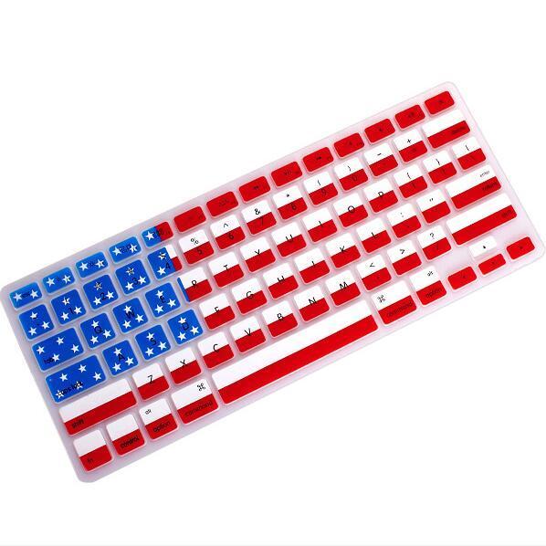 Silicone US Canada Australia UK Flag Keyboard Cover Keypad Skin Protector For Apple Mac Macbook Pro 13 15 17 Air Retina 13 US