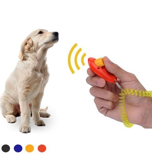 Pet Dog Trainer Portable Dog Button Clicker Sound Trainer Pet Training Tool Wrist Band Accessory Click Training Trainer c773