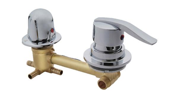 Shower room 2/3/4/5 way water outlet mixing valve, ultra long distance between centers 10cm,Shower room mixer faucet