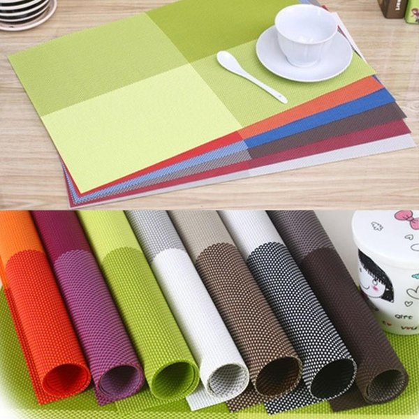 Wholesale- 4 PCS/Lot 10 color Placemats Dining Tables Place Mats Pad Tableware bowl mat Table Cloth kitchen Accessories Table Decoration