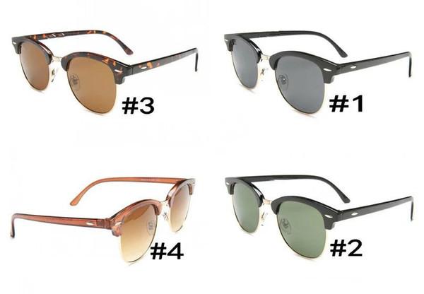 Nouveau 2018 vintage lunettes de soleil femmes hommes nouvelle demi-lunettes de soleil lunettes de soleil hommes lunettes de marque designer lunettes extérieures.