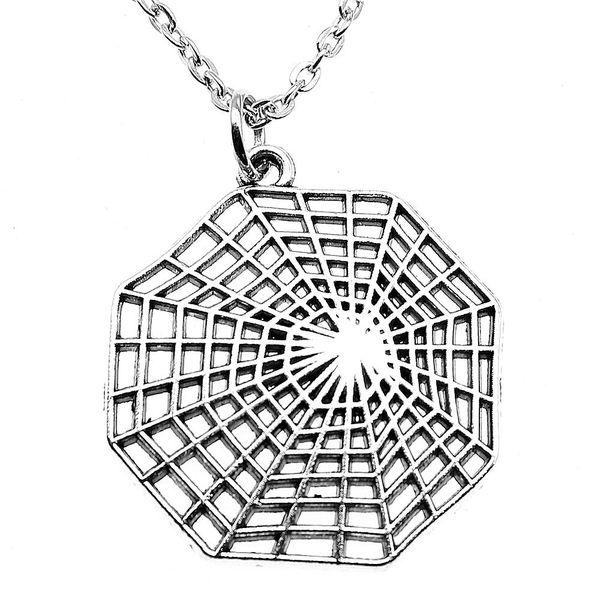 WYSIWYG 5 Stücke Metall Kette Halsketten Anhänger Vintage Halskette Handgemachte Spinnen Cobweb 31x28mm N2-B13647
