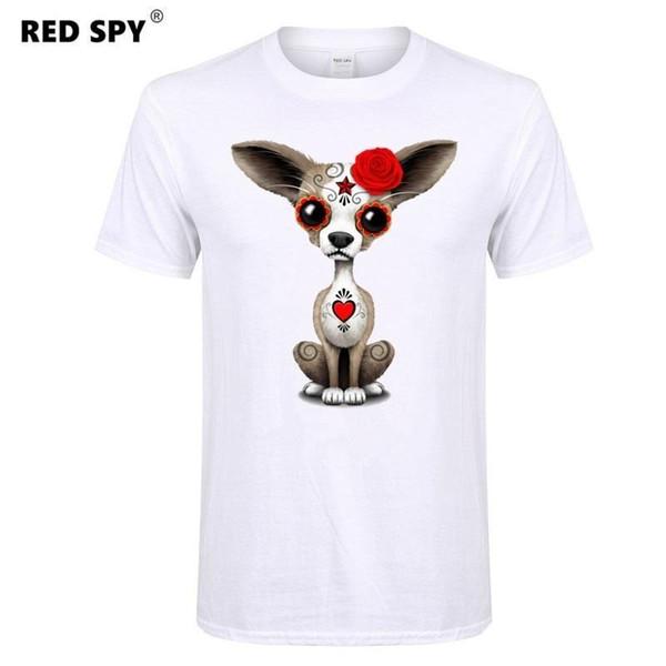 2017 Moda Hayvan Erkekler T-shirt Kısa kollu T gömlek erkekler Chihuahua, fil, panda, maymun Baskılı Gömlek Casual Komik T Shirt