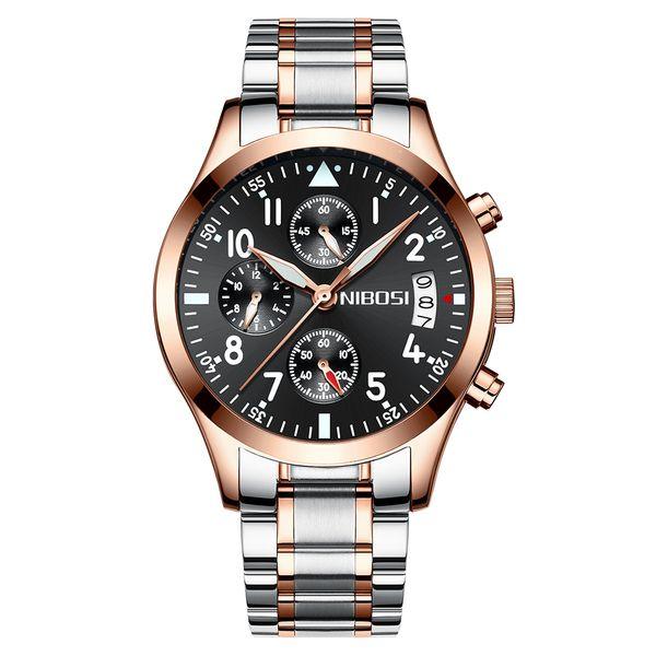 aa825e68ea70 Moda para hombre relojes hombres reloj de pulsera de cuarzo impermeable  banda de cuero a prueba