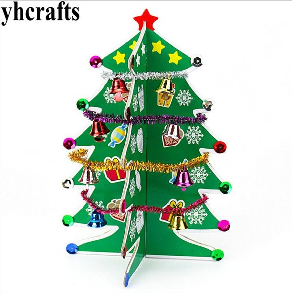Cardboard Christmas Tree.Diy Cardboard Christmas Tree Craft Kits X Mas Ornament Early Educational Toys Craft Material Kindergarten Crafts Oem The Christmas Shoppe Ornaments