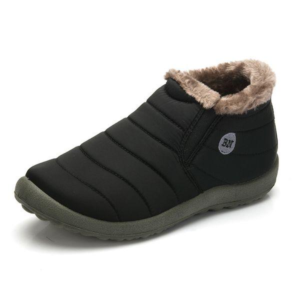 Taille35-48 Imperméable Femmes Hiver Chaussures Couple Unisexe Bottes de Neige Chaud Fourrure À L'intérieur Fond Antidérapant Garder Au chaud Mère Casual Bottes