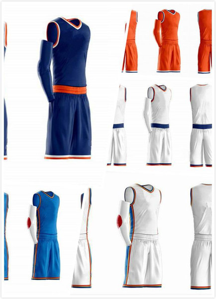 best selling 2018 new sports basketball suits for sale orange blue white free shipping size S-4XL