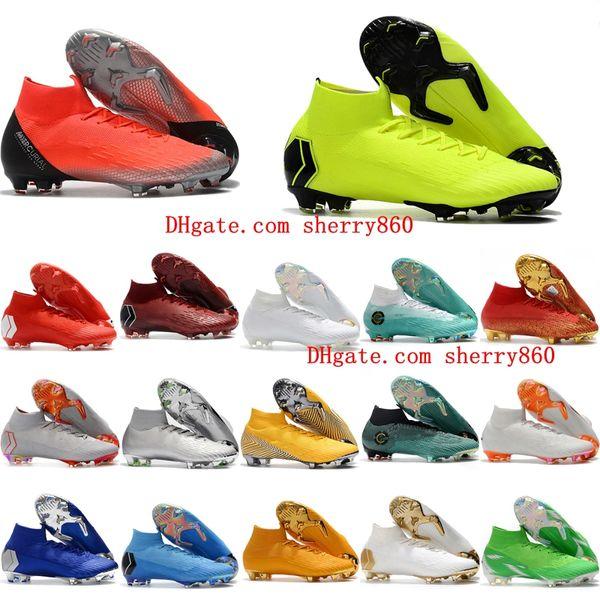 7386d48e314 2018 mens soccer shoes Mercurial Superfly VI 360 Elite Neymar Ronaldo FG AG soccer  cleats cr7 football boots chuteiras de futebol original