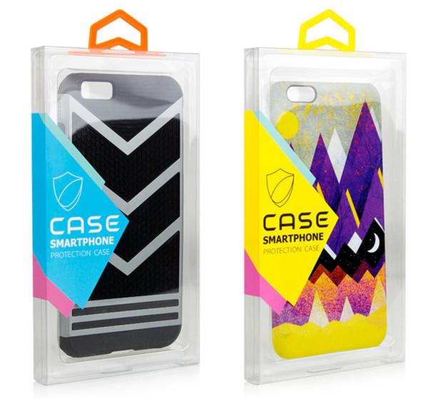 Moda Blister PVC Plastik Şeffaf şeffaf Perakende Ambalaj Özelleştirilmiş Ambalaj Kutusu iPhone X 6 s artı 7 8 Artı Cep Telefonu Kılıfı