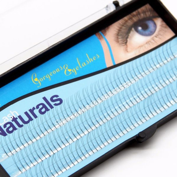 NAVINA 2 Flairs V Type Black Cluster Eyelashes 0.1mm C curl 8/10/12mm Nature Soft False Eyelash Extension Lashes Makeup tool