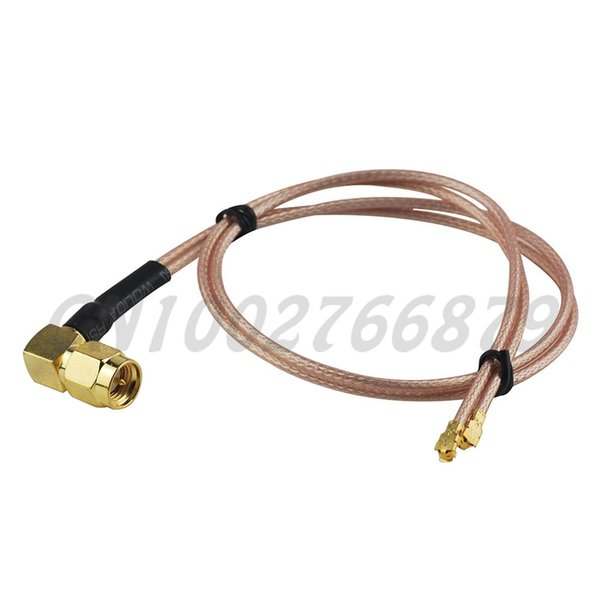 1ft 30cm RF SMA Plug male Right angle to Double IPX / u.fl Jack Right Angle RG178 Pigtail Cable assembly Wireless Infrastructure