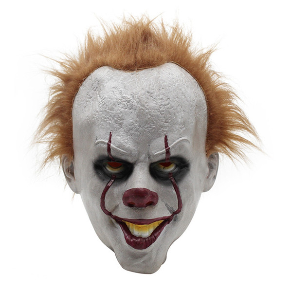 Stephen King's It Pennywise Maschera Film Full Head Latex Halloween Scary Mask Cosplay Pagliaccio Partito Joker Maschera Prop