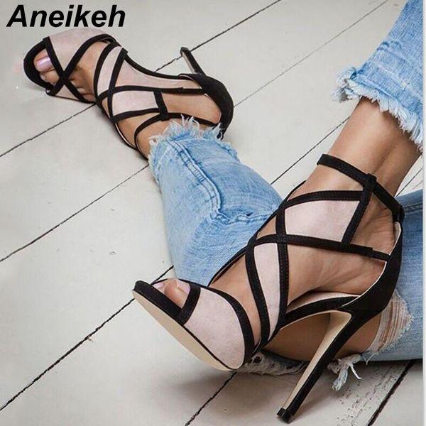 Venda Por Atacado mais novo damasco vermelho azul cor de camurça bloco gaiola sandálias recortadas patchwork fivela cinta sapatos sandálias gladiador