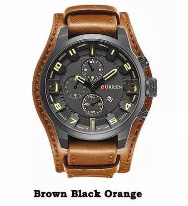 Braun schwarz orange